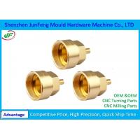 High-Precision CNC Brass Parts 7602000010 HS Code +/-0.005mm Tolerance Manufactures