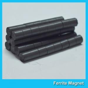 Hard Cylinder Ferrite Magnet For Rotors / Fridge SGS RoHS Certification Manufactures