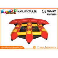 0.9mm PVC Tarpaulin Inflatable Water Toys For Adults / Lake Flying Fish Water Sport Manufactures