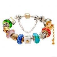 Fashion Beautiful Silver Wholesale Charm Glass Beads Bracelet Manufactures