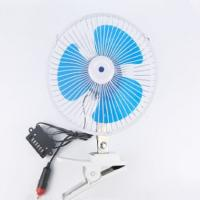 Blue Electric Car Cooling Fan 12v / 24v Screw Mounting Plastic Material Manufactures