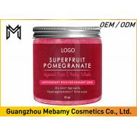 Superfruit Pomegranate Body Scrub , Rejuvenating Natural Body Scrub For Dry Skin  Manufactures