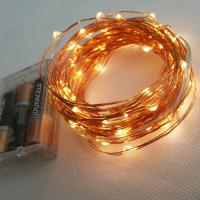 10m 100 LEDs Battery Powered Copper Wire LED Strip Light Manufactures