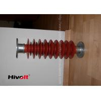 Red Color Polymer Post Insulator , 46kv Post Insulator For Switch Gear Parts Manufactures