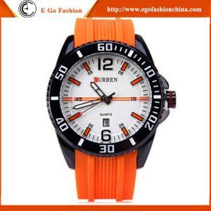 China Orange Sports Watch Casual Watches Men's Quartz Watch Wholesale Quartz Analog Watches Man on sale