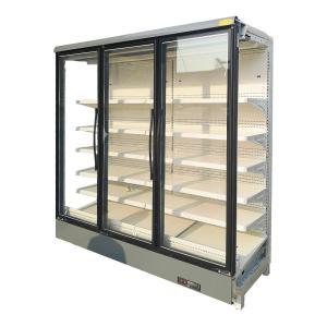 China Double Glazed Glass Door Multideck Display Fridge Refrigerated Multideck Cabinet on sale