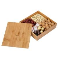 Fruit Serving Bamboo Storage Box Storage Box With Dividers High Strength