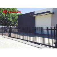 Galvanized Steel Spear Top Security Fencing Heavy Duty 2 Rail Powder Coated Manufactures