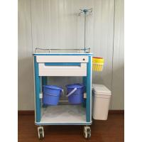 ABS Hospital Medical Cart Multifunction Medical Cart With Two Waste Bin And IV Pole Manufactures
