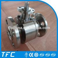 stainless steel flanged ball valve china supplier Manufactures