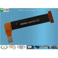 0.2mm gold finger Single Side FPC Flexible Printed Circuit EMI Shield With Black Electromagnetic Cover Film Manufactures