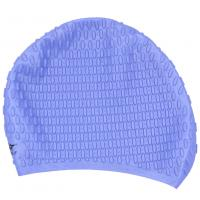 Light Blue Long Hair Swim Caps With Premium 100% Silicone Materials , Long Lasting Manufactures