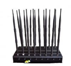 China 16 Antennas Gps Blocker Signal Jammer , 38 Watt Gps Frequency Jammer on sale
