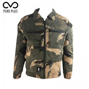China Outdoor Mens Warm Winter Jacket , Corduroy Jacket Mens Wear Resistant on sale