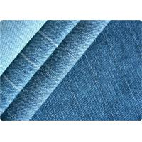 Vintage Women / Mens Knit Denim Fabric , Gament Pants Light Blue Denim Fabric Manufactures