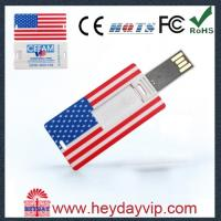 China credit card USB pen drive 16GB with printed logo for gift on sale