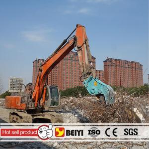 BEIYI hydraulic pulverizer plier demolition pulverizer concrete supplier at 2016 bauma Manufactures