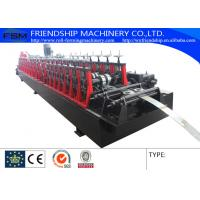 Automatic Punching Galvanized Steel Rack Roll Forming Machine With Gearbox Driven Manufactures