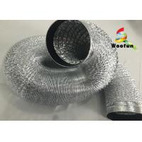 Quality Insulated 12 Inch Aluminum Flexible Duct , Durable Single Sided , Double Sided for sale