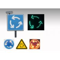 Buy cheap 5V 3W LED Solar Traffic Signs , Solar Powered Roundabout Warning Sign from wholesalers