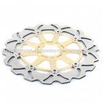 Kawasaki ZXR 250 Motorcycle Brake Disc Rotors And Brakes CNC Anodized Black Gold Manufactures