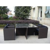 Buy cheap 5pcs rattan cube sets outdoor wicker sofa set with square table from wholesalers