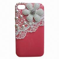 China Crystal with Lace Mobile Case for iPhone on sale