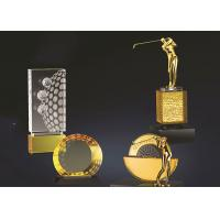 Yellow Crystal Material Golf Hole In One Trophy Multiple Types Optional Manufactures