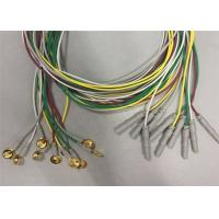 Golden Plated Electrodes EEG Cables 1.2m / 1.5m Length TPU Cable Material Manufactures
