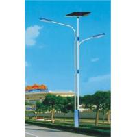 China Stainless Steel Pole Solar Street Street Solar Lighting Fixtures With Double Arms on sale