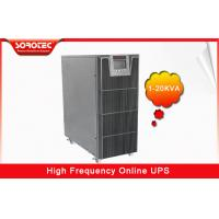 PF 0.9 1-20KVA High Frequency Online UPS , black uninterruptible power supplies Manufactures