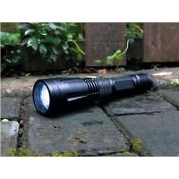 Self Defense Rechargeable LED Flashlight IPX7 Military Grade Black Color Manufactures
