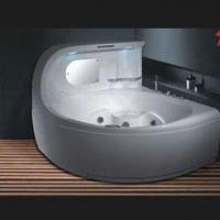 China Whirlpool Bathtub, Measures 1,620 x 1,620 x 1,320mm, with 12 Small Massage Jets on sale