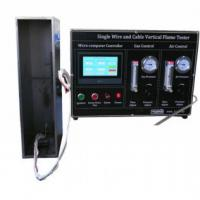 SGS Vertical Single Cable Burning Fire Resistance Test Equipment IEC60332-1 Manufactures
