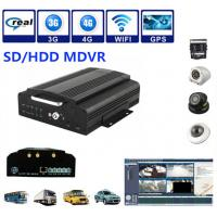 China 4Ch SD / HDD 3G Mobile DVR Security Camera System Support Real Time Recording on sale