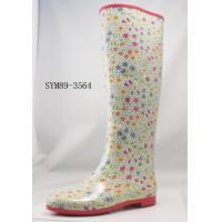 China Colored Sweet Round Dots Rubber Half Rain Boots For Girls on sale