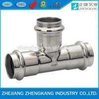 Equal Tee Type Stainless Steel Press Fittings Durable Groove Connection Manufactures