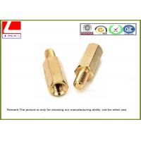 High Precision Cnc Turning Male Female Thread Bolts , Brass Machined Parts For Fastener Manufactures