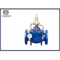 Double Flange Water Pressure Relief Valve Brass Pilot With Pressure Gauge Manufactures