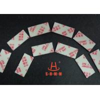 Fiber Rice Desiccant With Thin Sticker Tape , Food Grade Desiccant Packets 1.0mm Thickness Manufactures