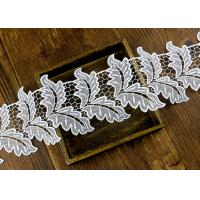 Leaf Guipure Polyester Lace Trim With Water Soluble Reach L4 High Color Fastness Manufactures