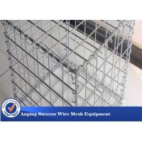 Silver Galvanized Gabion Mesh Cage / Stone Cage Wire Mesh Easy Install Manufactures