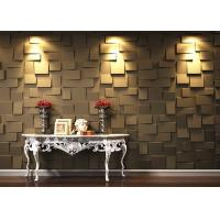 Quality Colored Fireproof Bamboo Fiber 3D Wood Wall Panel For Interior for sale