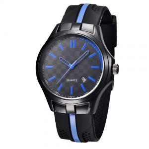 Men's Silicone Wrist Watches , Stainless steel Caseback  Waterproof  Alloy Wrist Watches , OEM Men Watch