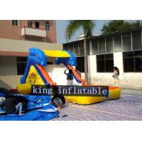 China 7 x 3m Cute Inflatable Water Slide Yellow Plato PVC Tarpaulin Pool Slide For Kids on sale
