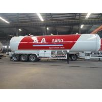 AARANO 56CBM LPG Delivery Truck , Customized Tri - Axle LPG Tank Trailer 25t Manufactures