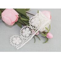 China Cotton Guipure Venice Lace Trim Water Soluble Lace Floral Embroidered Lace Ribbon on sale
