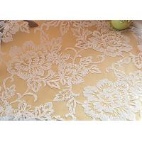 Embroidered Floral Sequin Netting Fabric , Sequin Tulle Fabric For Ivory Wedding Dresses Manufactures