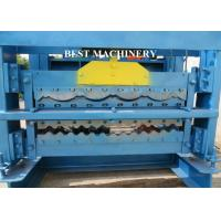 Automatic Corrugated Roof Panel Roll Forming Machine PLC Control System Manufactures