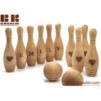 China Wooden Toy 10 Pin Bowling Game Set Bowling Game Wooden toys Gift for Baby Christmas on sale